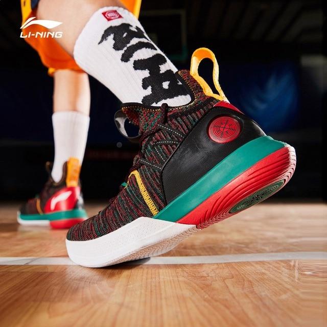 Li-Ning Для мужчин айт VI серия WADE профессиональная обувь для баскетбола однотонные Тканные подушки подкладка облако Спортивная обувь Кроссовки ABAP005 XYL226