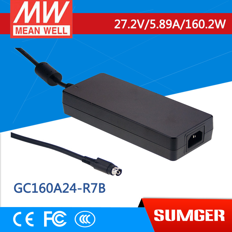 1MEAN WELL original GC160A24-R7B 27.2V 5.89A meanwell GC160 27.2V 160.2W Single Output Battery Charger 1mean well original gc160a24 ad1 27 2v 5 89a meanwell gc160 27 2v 160 2w single output battery charger