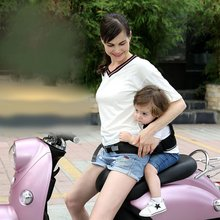 Children Safety Vest Belt Adjustable Baby Harness Assistant Motorcycle Seat Belt Back Hold Protector for Kids Travel Riding(China)