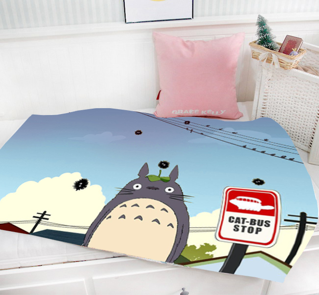 Gift My Neighbor Totoro Anime Cartoon 95 x 55 CM Mini éénlagige - Thuis textiel
