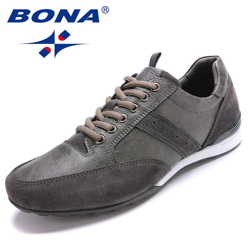 BONA New Style Men Walking Shoes Lace Up Men Shoes Outdoor Jogging Sneakers Microfiber Men Loafers Light Soft Fast Free Shipping цена 2017