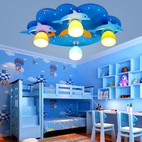 LED Ceiling Light Kids Room Boys Girls Bedroom Cartoon Eye Star Moon Dolphin Lighting ET7