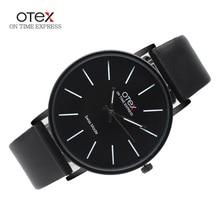 Top Brand luxury OTEX Fashion Business Quartz Watches Men Leather Waterproof Wristwatches Men Watch Relogios Masculino