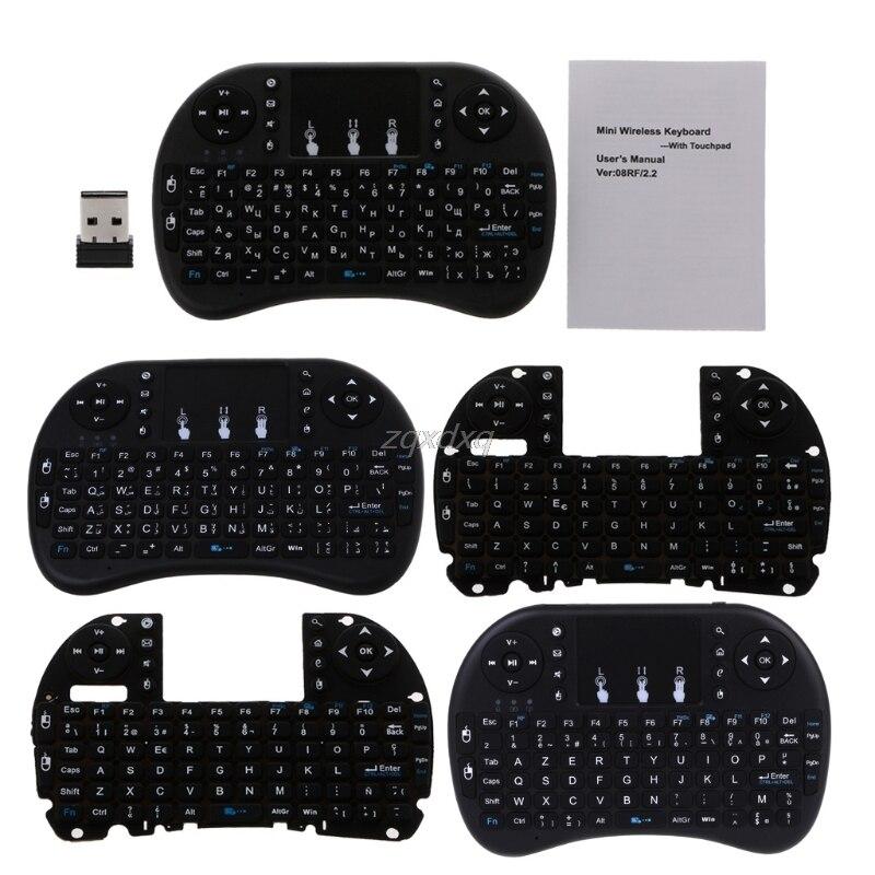 2,4 GHz Wireless i8 Touchpad teclado Fly Air ratón para Android TV PS3 Nov12 de la nave de la gota