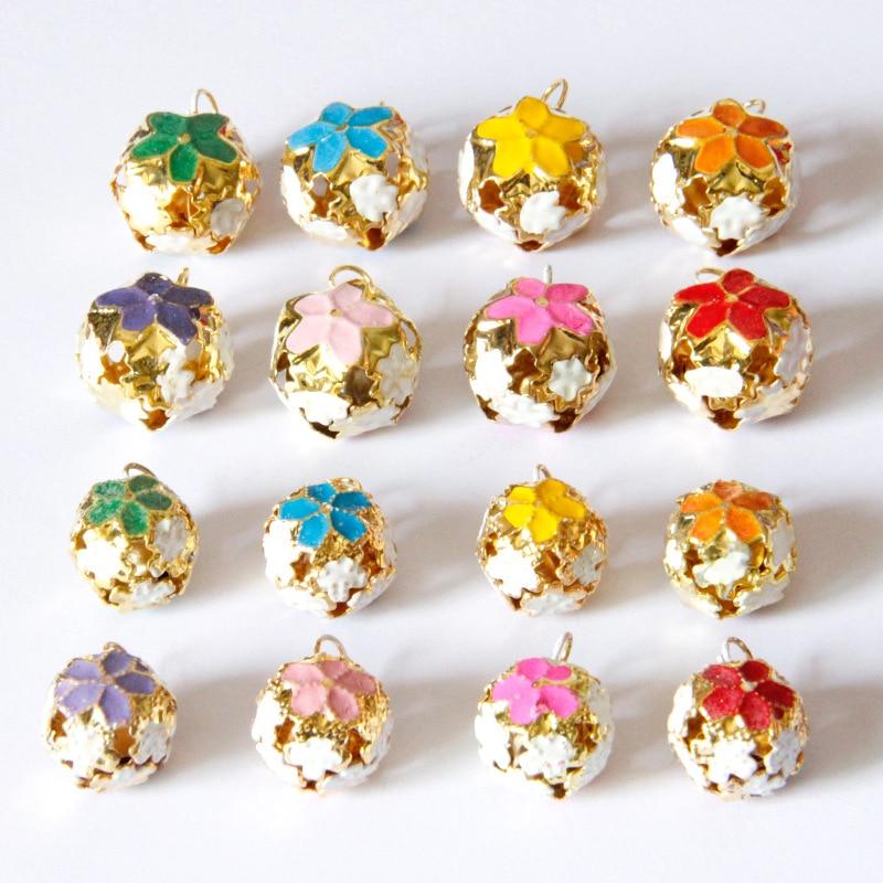 Home & Garden 10pcs Tibetan Silver Fashion Jingle Bells Pendants Charms 16mm Handmade Jewelry Making Earring Bracelet Necklace Keychain Diy