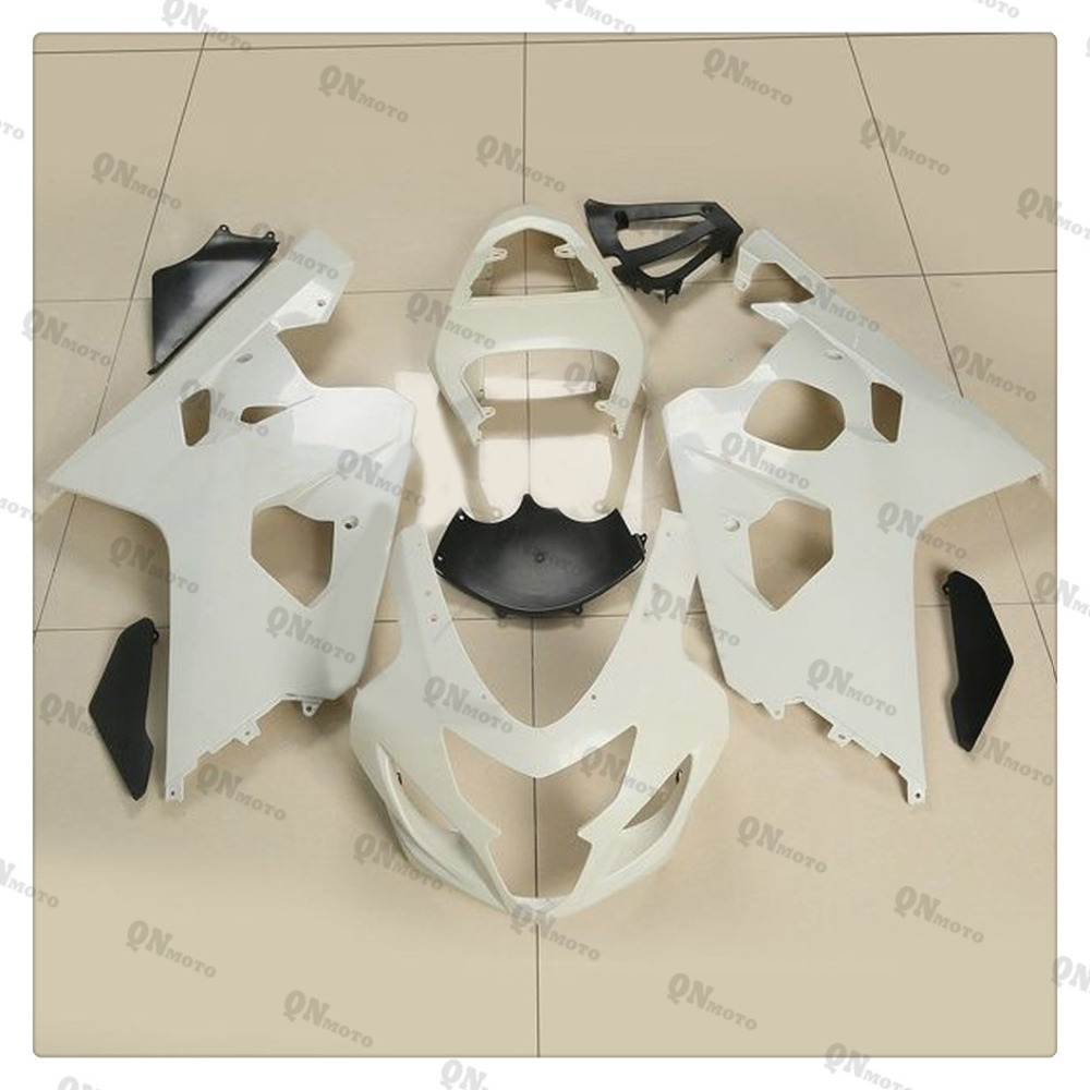 Motorcycle Unpainted White Fairing Cowl Body work Kit For SUZUKI GSXR600-750 GSXR 600 750 K4 2004-2005 + 4 Gift lowest price fairing kit for suzuki gsxr 600 750 k4 2004 2005 blue black fairings set gsxr600 gsxr750 04 05 eg12