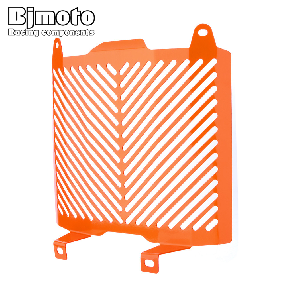BJMOTO Aluminum Motorcycle Radiator Guard Protector Grille Grill Cover For KTM Duke 690/690R 2012-2017 racing grills version aluminum alloy car styling refit grille air intake grid radiator grill for kla k5 2012 14