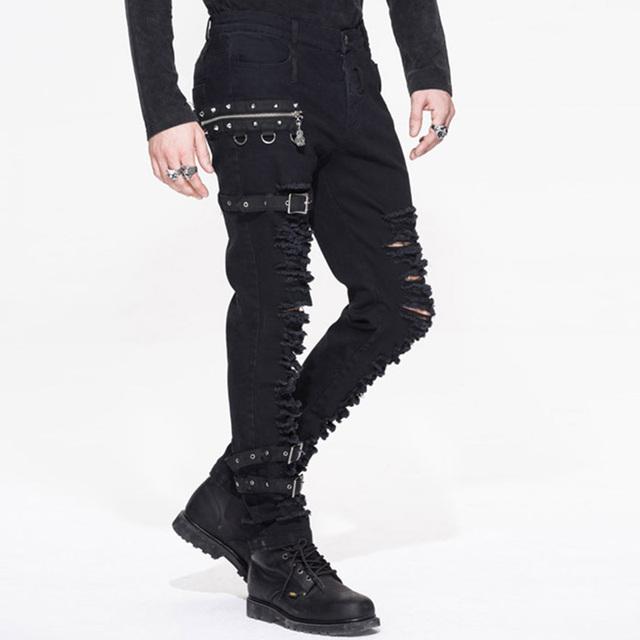 Steampunk Man Winter Casual  Black Pants