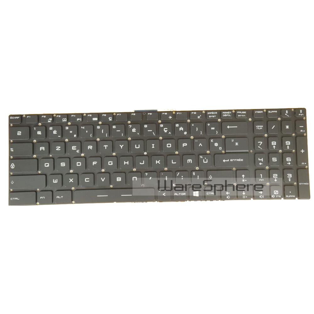 Backlit Keyboard for MSI GT72 French for msi gs70 gs60 keyboard backlit c shell palmrest