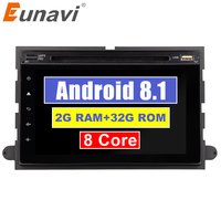 Eunavi 7'' 2 Din Octa 8 core Android 8.1 Car DVD for Ford Focus Fusion Expedition Explorer F150 F350 F500 Escape Edge Mustang