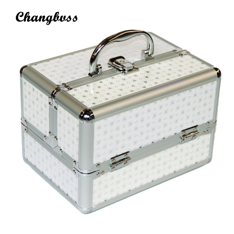 Portable Makeup Organizer Female Fashion PU Make Up Bag Cosmetic Neceser Pouch Sorting Storage Bag Women Dot Pattern Makeup Box new women fashion pu leather cosmetic bag high quality makeup box ladies toiletry bag lovely handbag pouch suitcase storage bag
