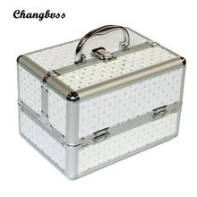 Portable Makeup Organizer Female Fashion PU Make Up Bag Cosmetic Neceser Pouch Sorting Storage Bag Women Dot Pattern Makeup Box