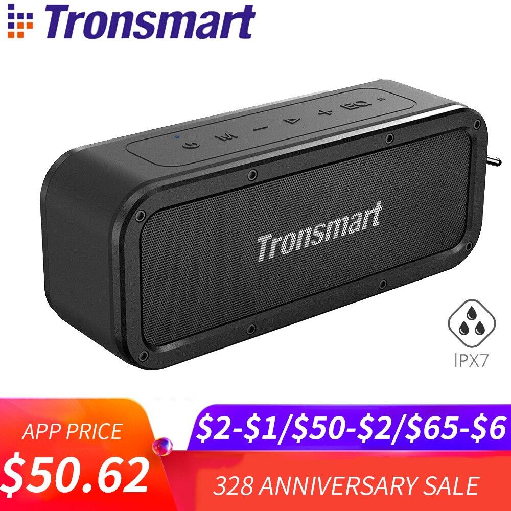Tronsmart Kraft Bluetooth Lautsprecher 40 W TWS IPX7 Wasserdichte Tragbare Drahtlose Lautsprecher Mikrofon Lautsprecher mit Subwoofer