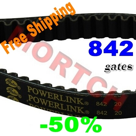 Gates PowerLink GY6 150cc CVT Belt 842 20 for 4 stroke engines for Scooter ATV Go Karts Moped (Free Shipping)