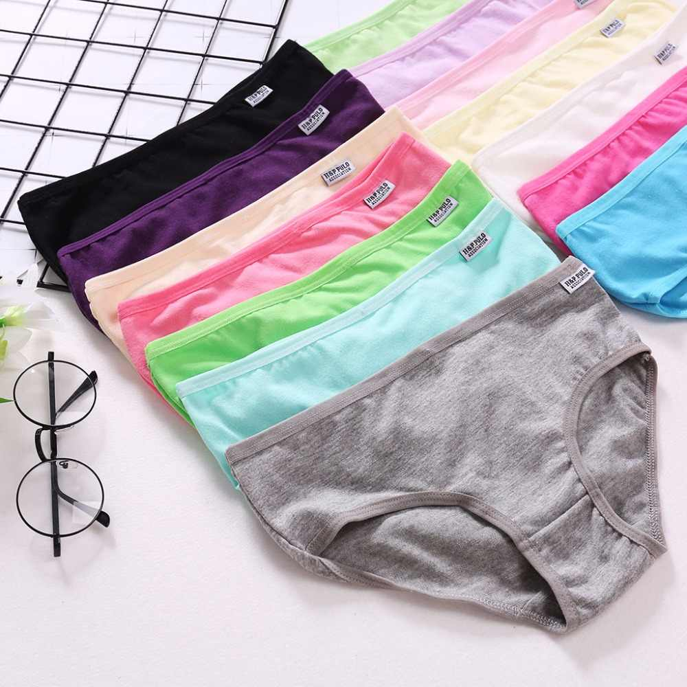 NEW Female Briefs Ladies Panties Breathable Underpants Girls Knickers Sexy Women Cotton Underwears