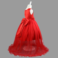 Kids Princess Tutu Dress Children Lace Wedding Dresses With Bow Tie Toddler Girls Birthday Party Clothing