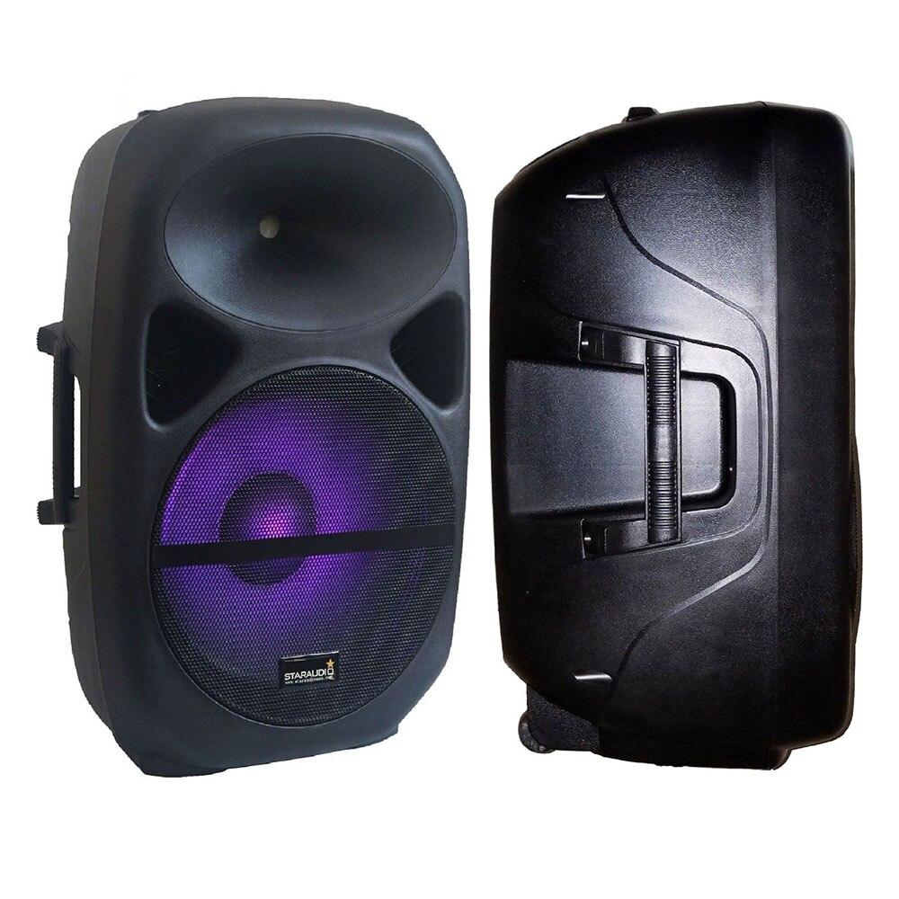 STARAUDIO 2500W PA 15 DJ Active Powered RGB Light Speaker Bluetooth Speaker Party Stage Karaoke Audio Speaker Stand SCS 15RGB - 4