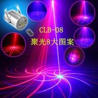 High Quality Cylindrical Laser Lights Spotlight 8 Patterns Ceiling Ceiling Sound Stage Lighting KTV Lamp Bar