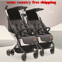 2018 newborn twin stroller double side by side baby stroler carriage easy go kids stroller jogger