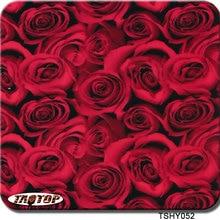 ITAATOP TSHY052 0,5 м* 2 м ПВА гидрографическая пленка Красная роза цветок передача воды agua пленка