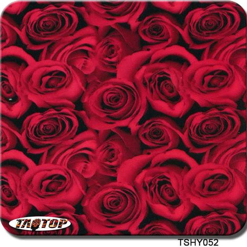 ITAATOP TSHY052 0.5m*2m Pva Hydrographic Film Red Rose Flower Water Transfer Agua Film