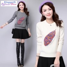 LOGAMI Heart Knitting Sweater And Pullover Women Autumn Winter Casual Female Jumper