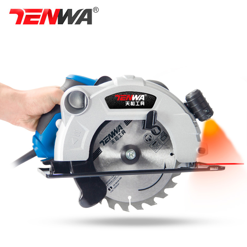 Tenwa Handheld electric circular saw 7 inch high-power multi-function woodworking cutting machine household small flip-disc saw tenwa 220v 1500w electric circular saw 7 inch blade 60mm depth woodworking 500w 3 5 inch cutting wood metal tile brick mini saw