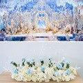 Mori Hochzeit Hintergrund Layout T bühne Straße Führen Arch Dekoration Blume Reihe Fenster Display Simulation Blumen Requisiten Anordnung-in Künstliche & getrockneten Blumen aus Heim und Garten bei