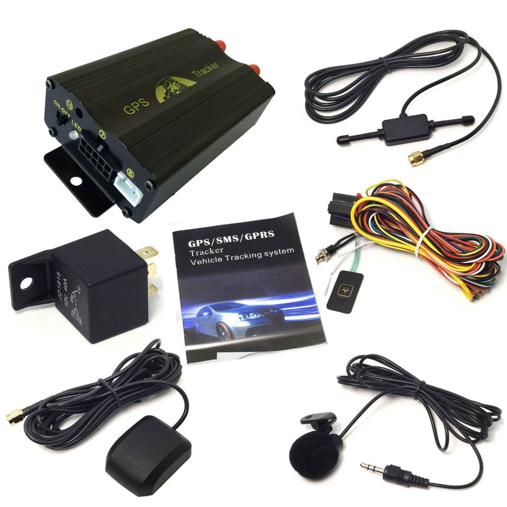 Multifunction Realtime Vehicle Car GPS GSM GPRS Tracking System Kits Quad Band SD Move Alarm Anti