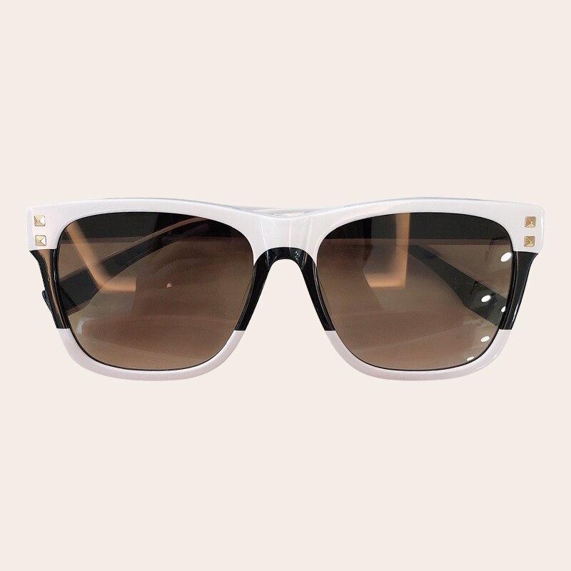 Квадратные большие солнцезащитные очки женские 2019 белые черные розовые солнцезащитные очки мужские Большая винтажная рамка квадратные оч...