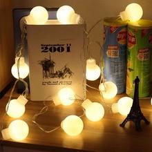 5 Metro 20 led de La Novedad iluminación Al Aire Libre 5 cm tamaño grande Bola LED cadena de luces de Navidad jardín Luces de hadas de la boda colgante de la guirnalda