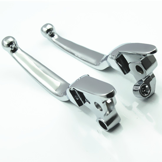 ФОТО  Chrome Aluminum Drag Specialties Clutch Brake Levers For Harley Road King FLHR Road Glide FLHRC