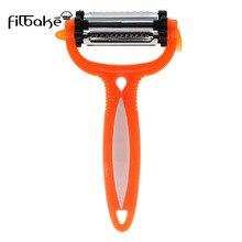 FILBAKE creativa Multi-función de Rotary pelador 3-en-1 frutas y verduras rallador pelado cuchillo de cocina Gadget accesorios