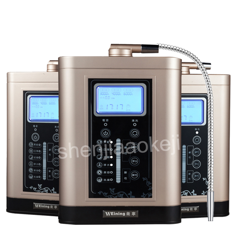 Electrolytic Water Ionizer Purifier Filter LCD Touch Control Alkaline Acid Machine Filter Electrolyzed Water Water Purification