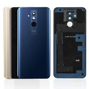 Image 1 - מקורי עבור Huawei Mate 20 Lite סוללה שיכון זכוכית + מצלמה זכוכית אחורי סוללה דלת כיסוי תיקון החלפת חלקי חילוף