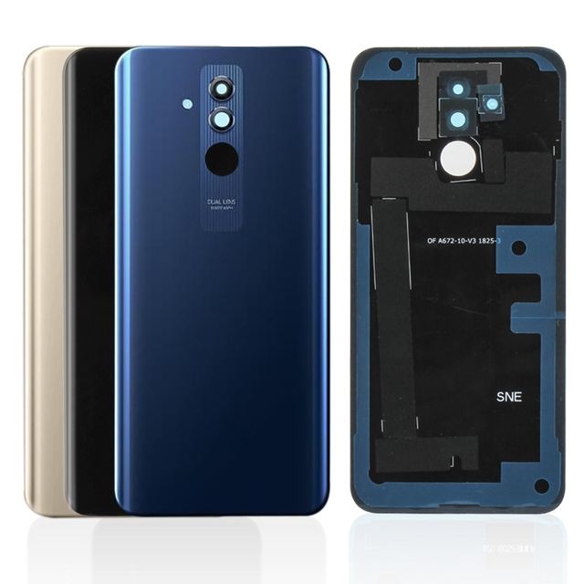 Original For Huawei Mate 20 Lite Battery Housing Glass + Camera Glass Rear Battery Door Cover Replacement Repair Spare Parts