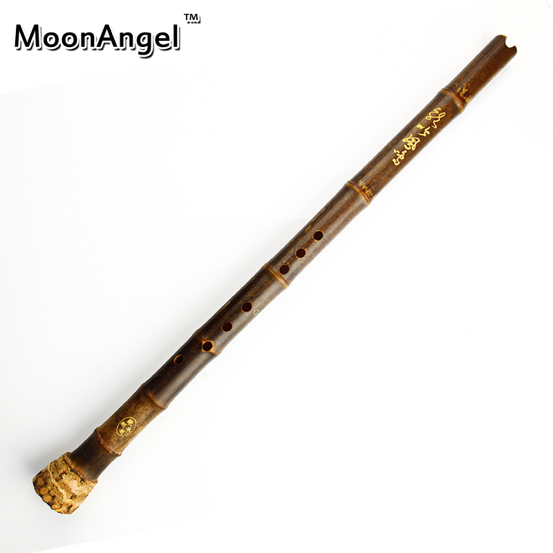 цена на Chinese Purple Bamboo Flute Woodwind Musical Instrument Vertical Shakuhachi Bambu Flauta Nan Xiao With Knot