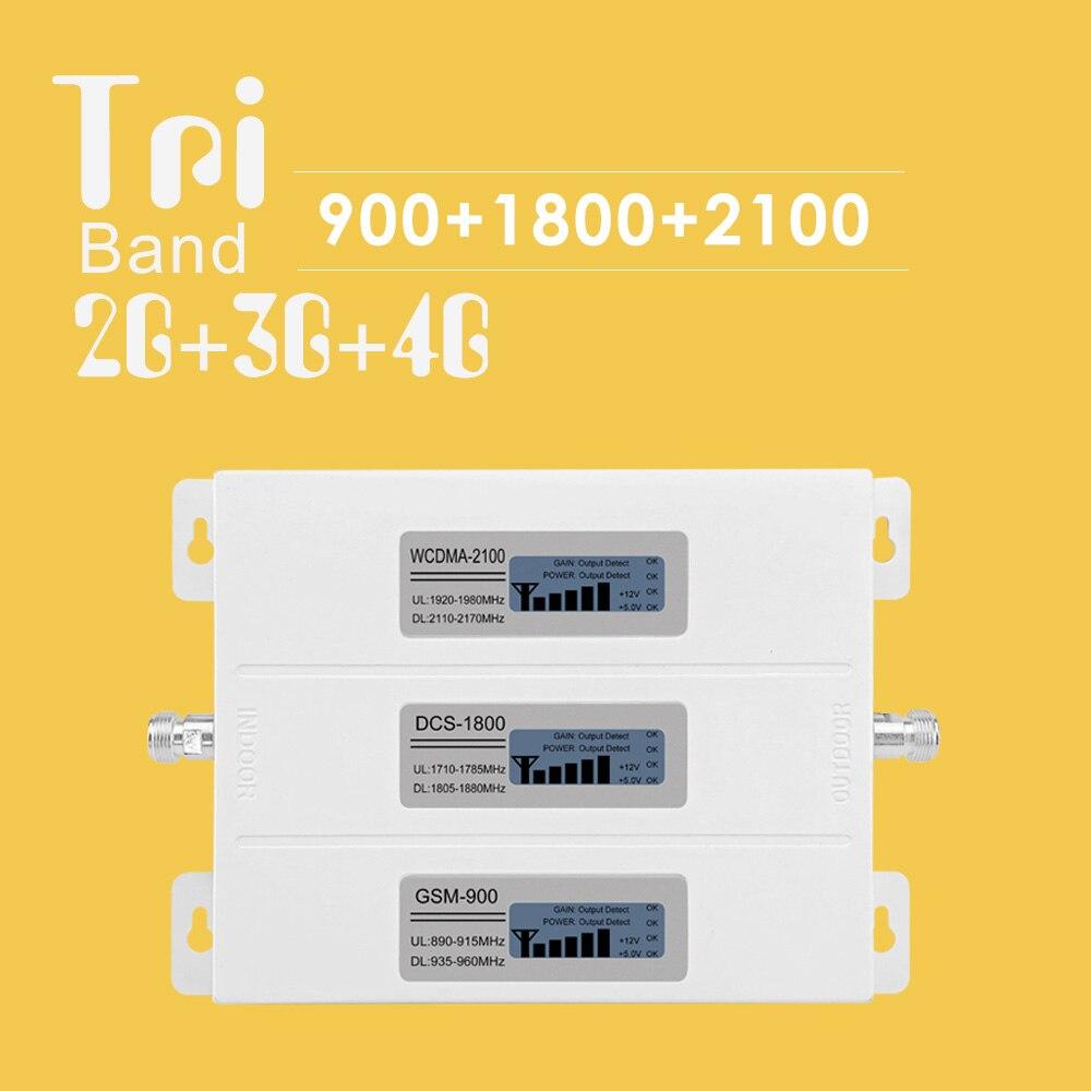 2G 3G 4G Signal Booster GSM répéteur amplificateur 4G téléphone Mobile GSM 900 DCS 1800 WCDMA 2100 Tir bande téléphone cellulaire Booster