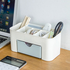 Creative multifunction pen holder desktop stationery office plastic case storage box home office supplies wholesale