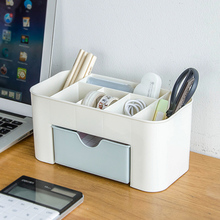 Creative multifunction pen holder desktop stationery office plastic case storage box home office supplies wholesale