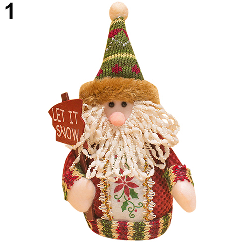 new santa claus snow man moose doll christmas decorations xmas tree gadgets ornaments doll - Christmas Moose Decorations