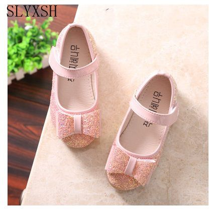 SLYXSH party girls shoes children kids dress girl princess red leather shoe 2018 spring autumn size 21~35