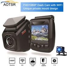 DVR carro Cam 1080HD Night Vision Cam Traço Câmera Do Carro Wi-fi Gravador De Auto G-sensor de Gravador de vídeo Auto Registrator dvr Traço Cam