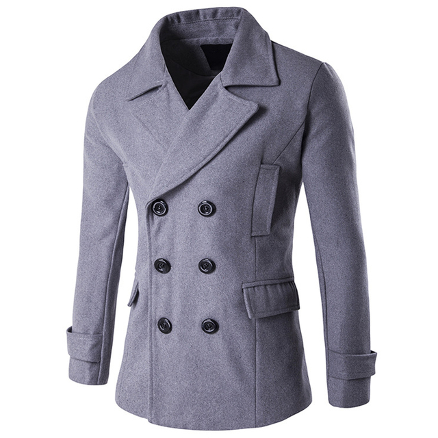 c6ac173cecd Winter Mens Pea Coat High Quality Trench Coats Mens Wool Peacoats Long  Winter Coats Men Import Name Brand Men Wool Coat New C112-in Wool & Blends  from ...