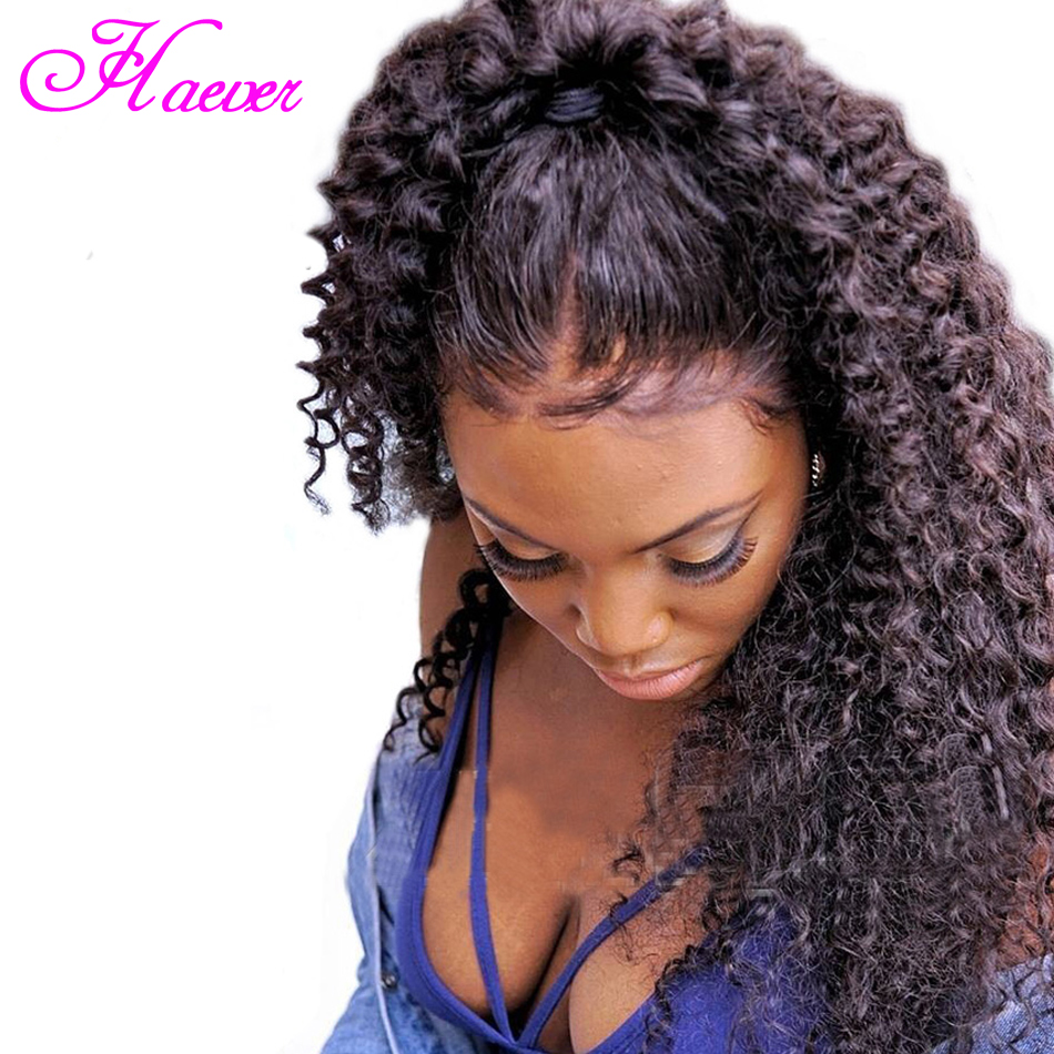 Afro Kinky Curly Lace Front Wig 8-24Inch Pre Plucked With Baby Hair Brazilian Human Hair For Black Women Free Shipping(China)