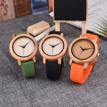 DODO DEER Men's Fashion Bamboo Wood Watches With Soft Silicone Straps Quartz Movement Watch Women in Gift Box Dropshipping B15 все цены