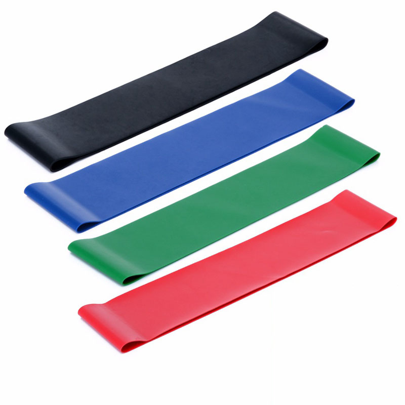 Resistance Band Set 4 Levels Workout Exercise Fitness Gym St