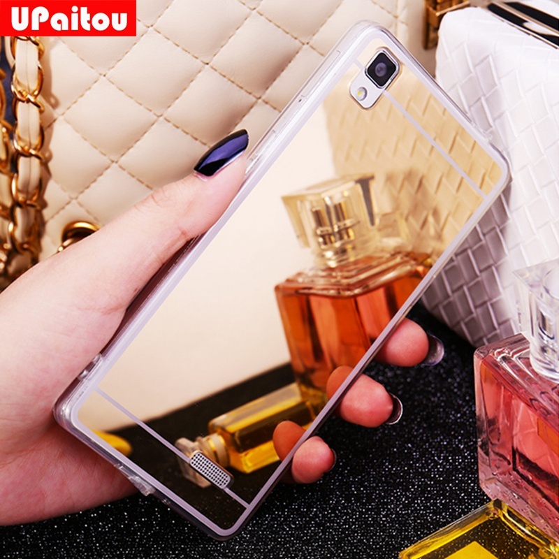 UPaitou Luxury Plating Bling Mirror Case for Oppo F5 F3 R11 F1 R11S Plus R7 R7S R9S R9 Plus A57 A35 A51 Back Cover Soft TPU Case