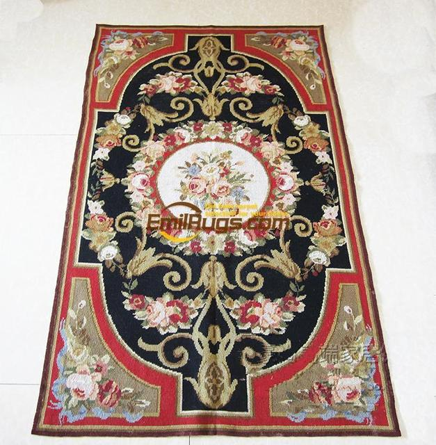 Italian Antique Needlepoint Rugs Handmade Pure Wool Carpets Needlepoint  Tapestries Gc149 19