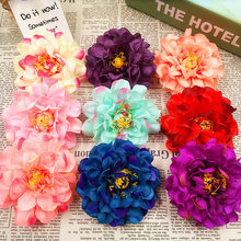 5 PCS (9 cm/flower) simulation of artificial silk stamens peony flowers, spend the holiday party/wedding decoration DIY collage